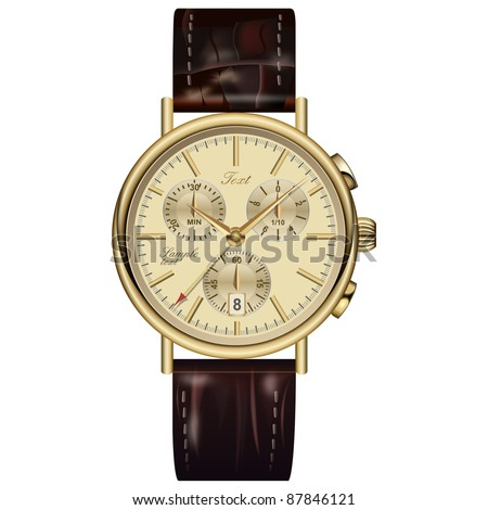 analog watch elegant gold