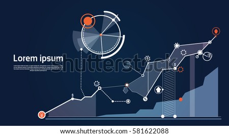 Analysis Finance Graph Financial Business Chart Flat Vector Illustration - Shutterstock ID 581622088