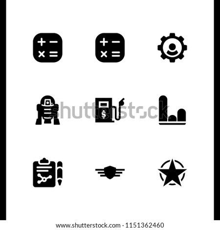 analysis icon. 9 analysis set with rank, graph, research and r d vector icons for web and mobile app Stock fotó ©