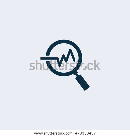 Analysis icon,Vector illustration