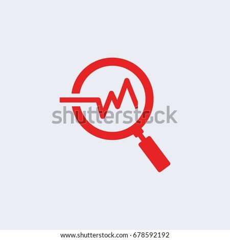 Analysis icon, Vector illustration