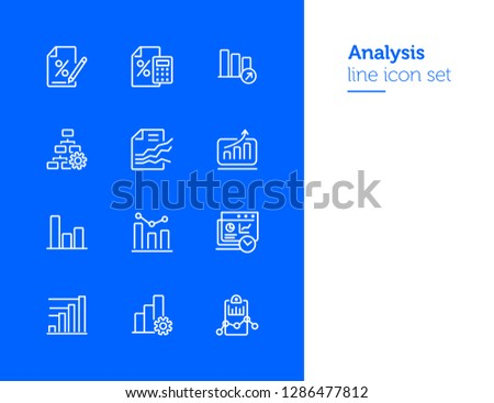 silhouette strategy presentation with statistics graphic bar