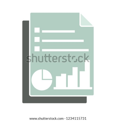 analysis report isolated vector - information note illustration sign . document file sign symbol