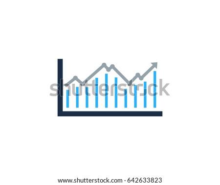 Analysis Stock Market Icon Logo Design Element