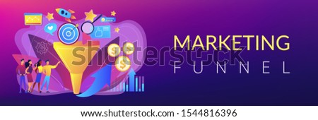 Analysts analyzing market. Selling strategy, lead generation. Marketing funnel, product marketing cycle, advertising system control concept. Header or footer banner template with copy space.