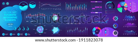 Analytic set UI, UX, GUI for mobile app, dashboard and presentation. Gradient infographic, graphic, diagrams, chart and graph template.  Intelligent infographic for Web UI UX. Data analytics elements