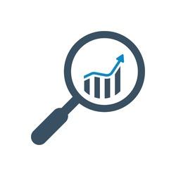 Analytics, bar graph icon (vector illustration)