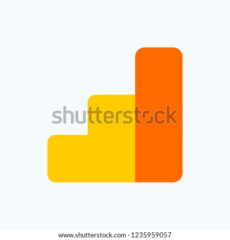 Analytics icon. Icon analysts in the business. Color flat vector icon symbolizing statistics, growth, development. Vector illustration