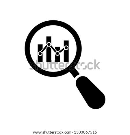 Analytics icon, the logo on a white background, business analysis, data analysis, Market Research Icon, business analysis, data analysis