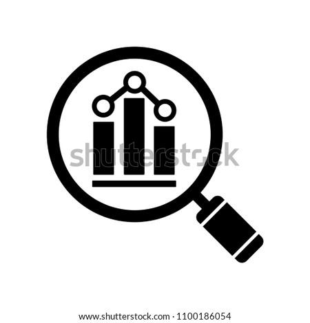 Analytics icon. Vector illustration in flat style