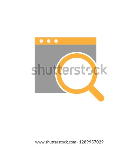 Analytics magnifier icon. Element of marketing icon for mobile concept and web apps. Detailed Analytics magnifier icon can be used for web and mobile on white background
