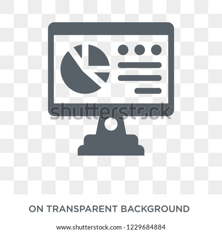 Analytics Monitor icon. Trendy flat vector Analytics Monitor icon on transparent background from Business and analytics collection.