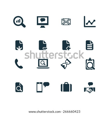 analytics, research Icons Vector set