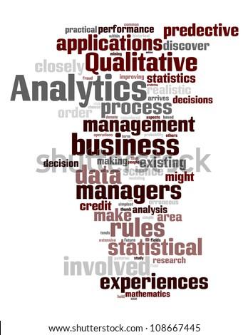 Analytics Word Cloud Concept