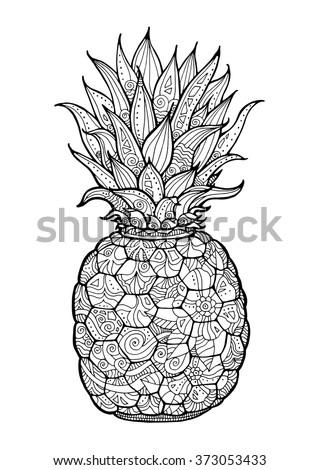 ananas  pineapple  exotic fruit