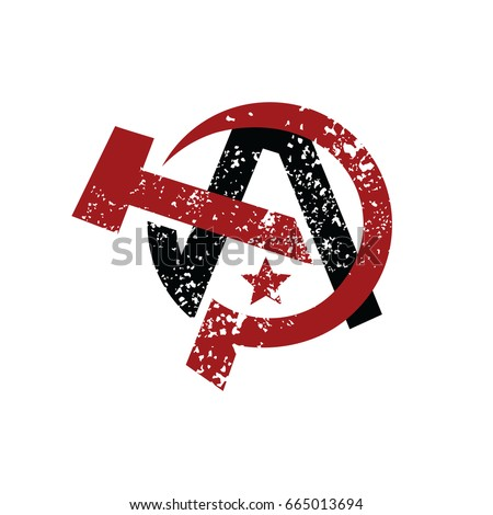 anarchy atheism communist logo