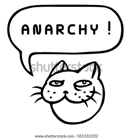 anarchy cartoon tom cat head