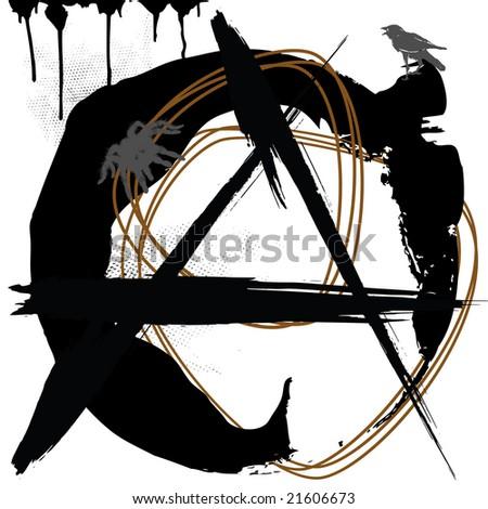 anarchy, grunge symbol