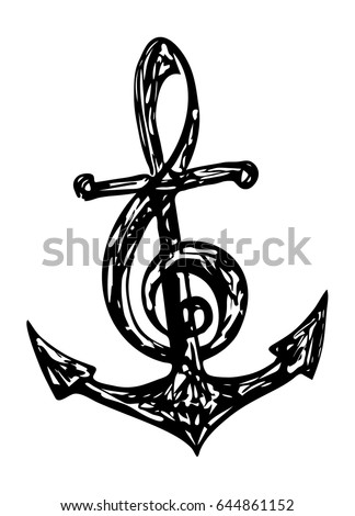 Anchor and Treble Clef