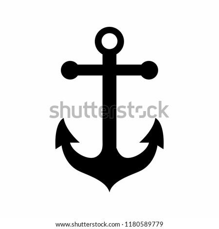 Anchor Black icon Vector