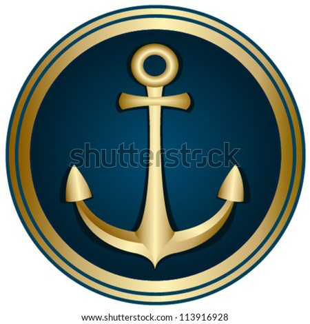 anchor gold emblem