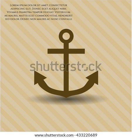 Anchor icon or symbol
