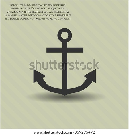 Anchor icon vector illustration