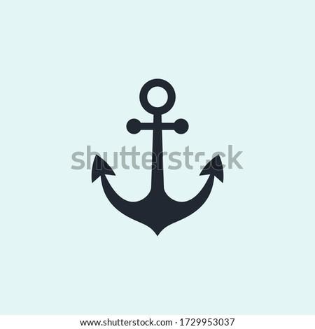 anchor icon vector illustration. anchor navy symbol. Zdjęcia stock ©