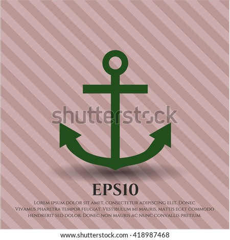 anchor icon vector symbol flat eps jpg app web concept website