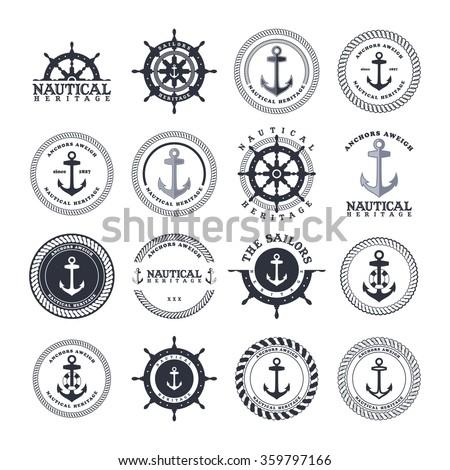 anchor sailor - nautical symbol theme