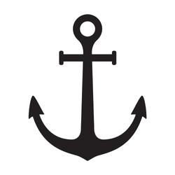 Anchor vector icon logo boat pirate Nautical maritime illustration symbol graphic design clipart