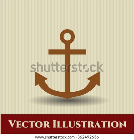 Anchor vector symbol