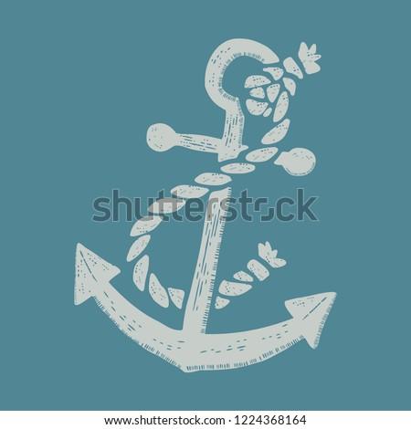 anchor vintage style icon