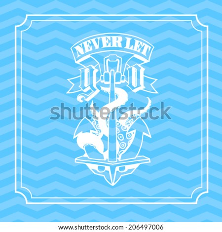 anchor with octopus tentacles