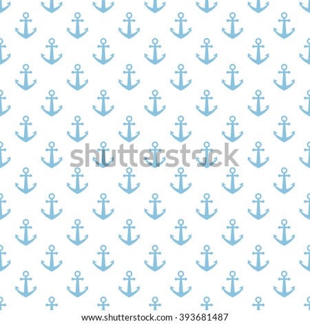 Anchors background.Vector seamless pattern.