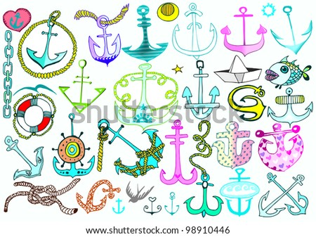 Anchors Collection. Vector