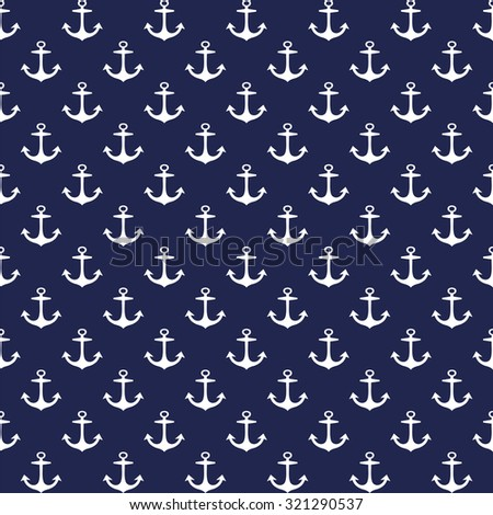 Anchors seamless pattern - Illustration