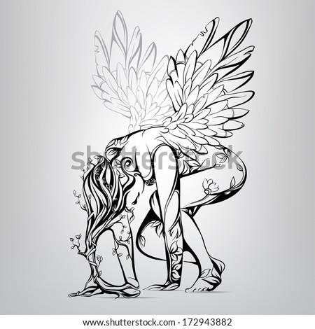 ancient angel vector
