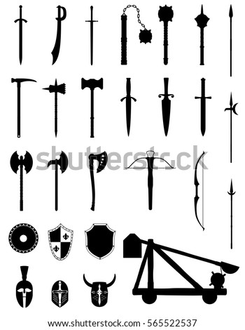 ancient battle weapons set