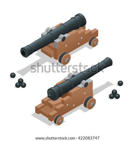 ancient cannon with cannon