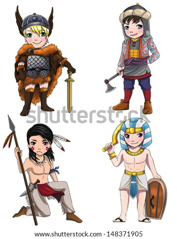 ancient cartoon warriors