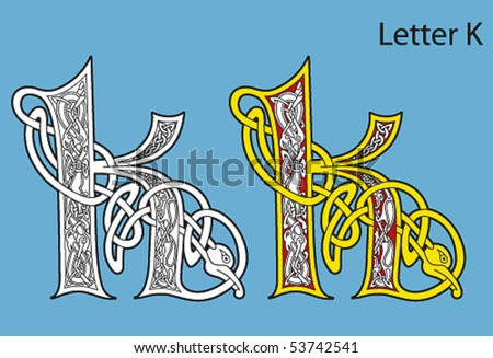 Ancient Gaelic Alphabet http://www.shutterstock.com/pic-53742541/stock-vector-ancient-celtic-alphabet-letters.html