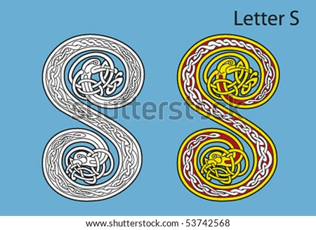 Ancient Gaelic Alphabet http://www.shutterstock.com/pic-53742568/stock-vector-ancient-celtic-alphabet-letters.html