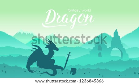 ancient dragon sits