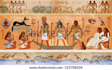 ancient egypt scene  mythology