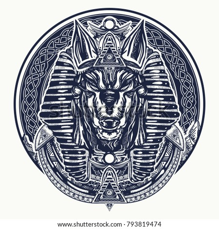 Ancient egypt tattoo and t-shirt design