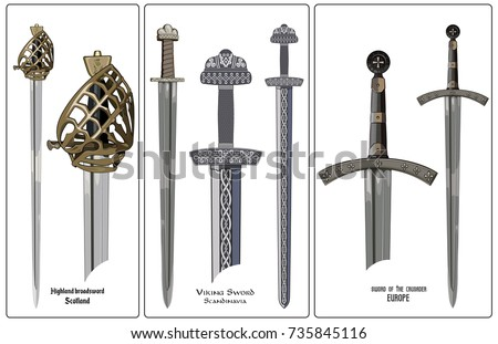 ancient europe weapon   set of