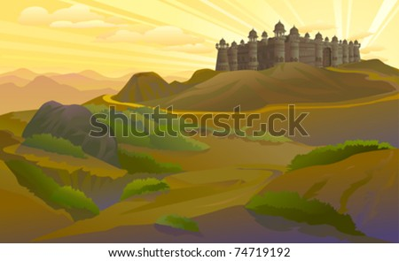 ANCIENT FORT ON HILLS