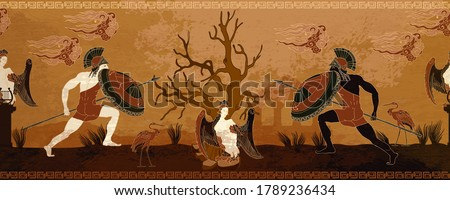 ancient greece battle scene
