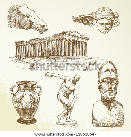 ancient greece   hand drawn